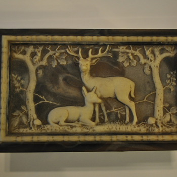 Incolay Deer and Doe jewelry box - Fine Jewelry