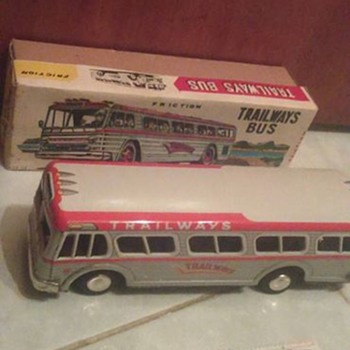 Japan Trailways Bus with Ruler ! - Toys