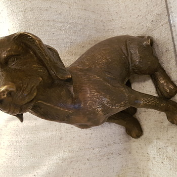 Antique Dog  ..Bronze or Brass ?