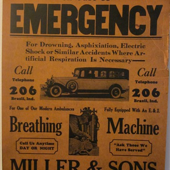 In Case of Emergency...1920's Advertisment - Advertising