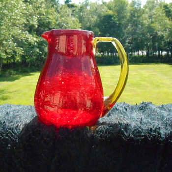 Ruby Pilgrim Glass Pitcher