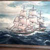 """Beautiful Old Clipper Ship Oil Painting 16"""" x 20"""" / Signed / Circa 1930's"""