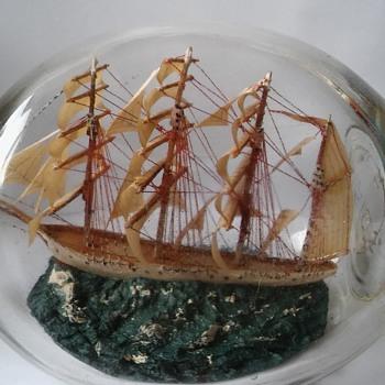 HAIG dimple bottle with 4 masted swordfish ship - Bottles
