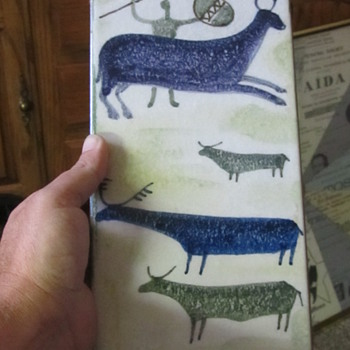 Painted Native Tile Signed  - Pottery