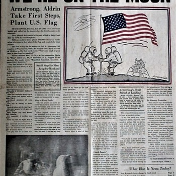 Apollo 11 Moon Landing July 20, 1969 Pittsburgh Post-Gazette - Paper