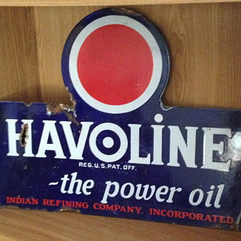 Havoline Flange Sign - Petroliana