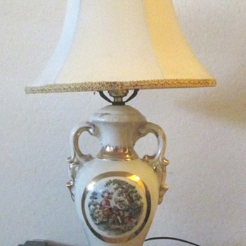 Vintage George and Martha  Table Lamp - Lamps