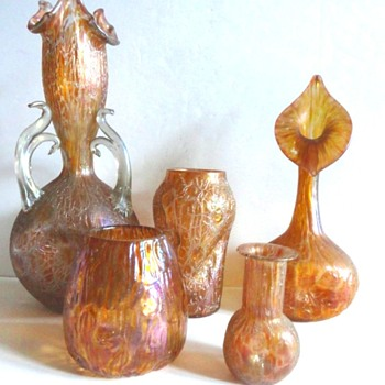 A LOETZ AST GLASS COLLECTION. - Art Glass