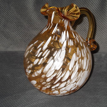 Spatter Glass Pitcher(Pilgrim Glass?) - Art Glass