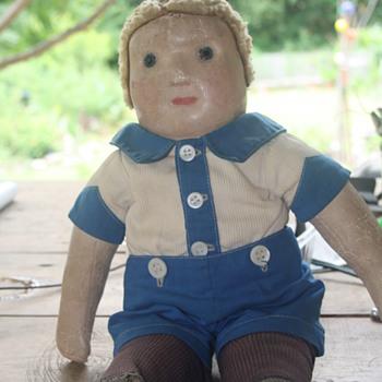 My G-Grandmother's  1890's cloth doll - Dolls