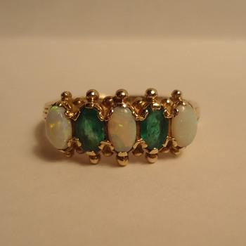 Emerald-Opal Ring - Fine Jewelry