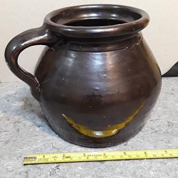 interesting little 'brown jug' crockery pot, #2 - Pottery