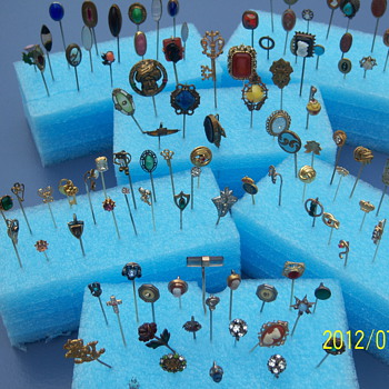 antique stick pin collection - Fine Jewelry