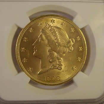 "1898 U.S. $20 Gold ""Liberty"" Double Eagle"