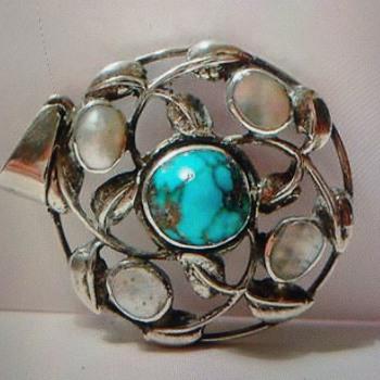 Art Nouveau silver pendant  - Art Nouveau