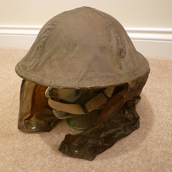 British/Canadian WW11 Anti Gas/Rain cover for steel helmet.