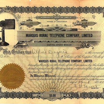 1914 Stock Certificate - US Paper Money