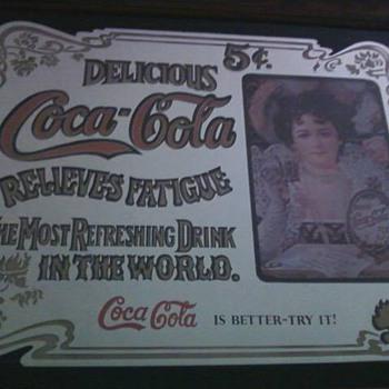 5 Cent coke mirror - Coca-Cola