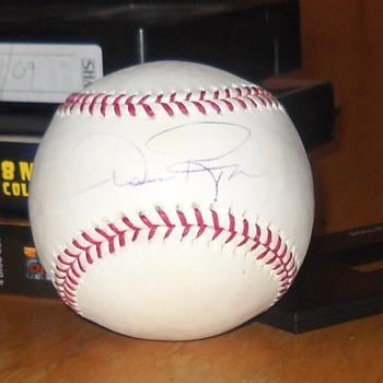 Dan Pasqua signed baseball - Baseball