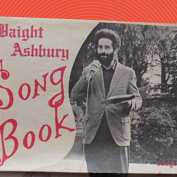 Hippie songbook from Haight Ashbury District in San Francisco-Dated 1967 w. Provnance - Music Memorabilia