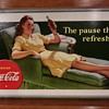 A rarely seen image 1942 20 X 36 cardboard Coca Cola sign