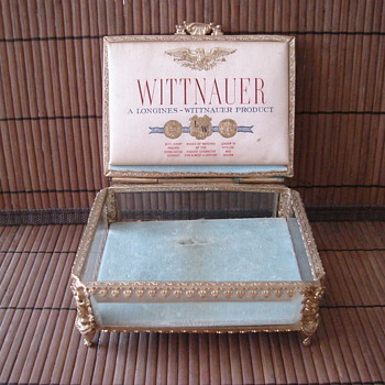 Longines Wittnauer Decorative Jewelry Casket Box Watch Advertisement