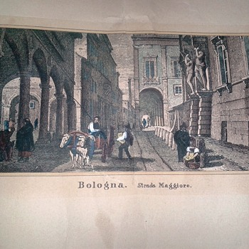 Colored Lithograph J. Hakewill Drawings JMW Turner Bologna Strada Maggiore Worth Repairing?  - Fine Art