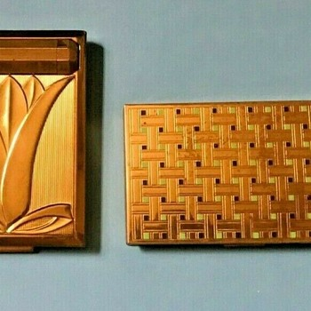Pair of Richard Hudnut (NY and Paris) 1920's-1940's Art Deco Cosmetic Compact Vanity Cases   - Accessories