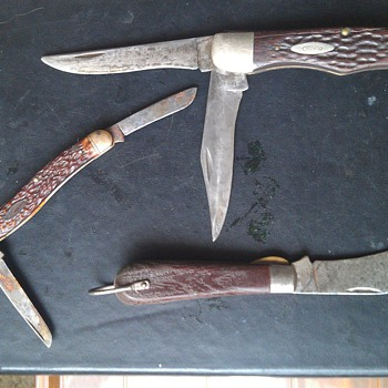 Vintage Folding Knives , Case XX, Klein and Camillus - Tools and Hardware