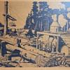 Steam Logging lithograph by Wandesforde