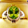 Vintage Deco Ostby & Barton Peridot 10k Rose Gold Ring Mint