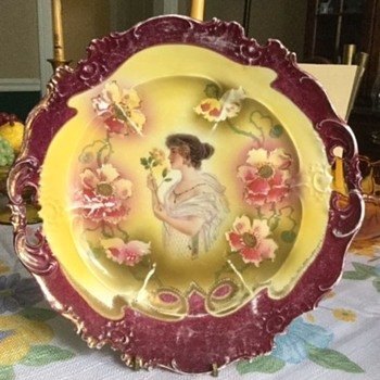 Vintage Victorian Plate - China and Dinnerware