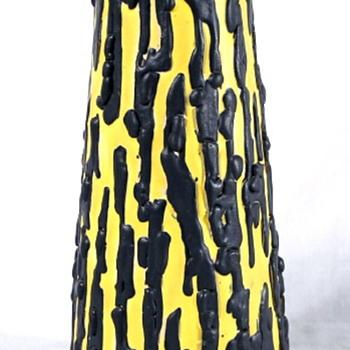 Unusual Glazed Pottery Vase Signed Kiraly - Pottery