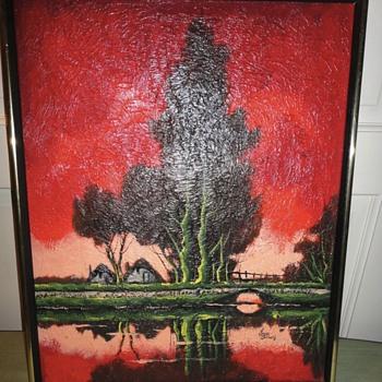 Red Desert Oil on Canvas - Fine Art