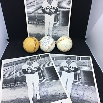Cache of Autographed Photos an Baseball from Gaylord Perry  - Baseball