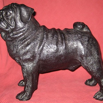 Life Size Cast Pug Doorstop - Tools and Hardware