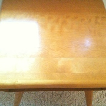 Heywood-Wakefield Lamp End TV Table M364 Solid Birch RARE CHAMPAGNE Original Family