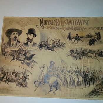 Buffalo Bill Cody Wild West Congress and rough riders of the world  - Posters and Prints
