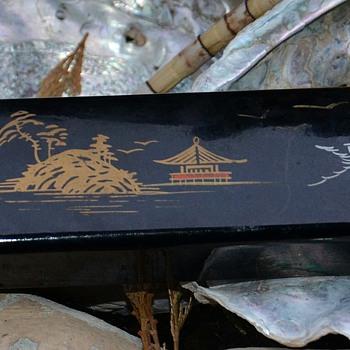 Bakelite Box w/ a Pair of Inlaid Chopsticks