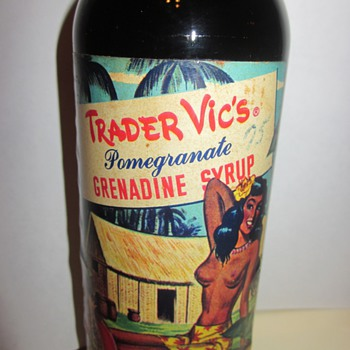 Trader Vic's Grenadine Syrup bottle dated 1946 - Bottles