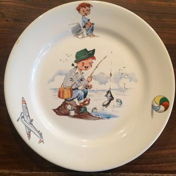 """Child's Plate 9"""" - China and Dinnerware"""
