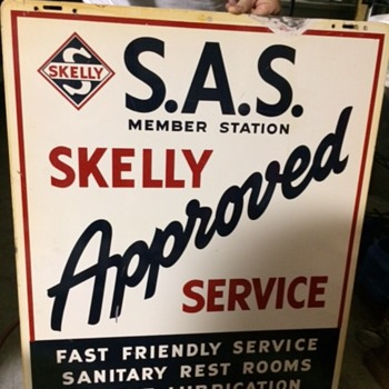 Skelly S.A.S. Sign - Petroliana
