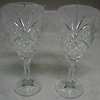 CRYSTAL GOBLETS - Glassware