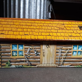 Marx Tin Litho Cabin From Various Ranch and Fort Playsets - Toys