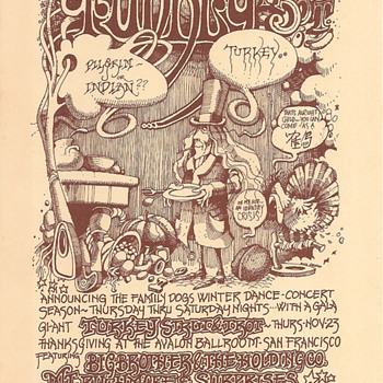 Thanksgiving, Avalon Ballroom, 1967 - Posters and Prints