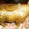 Rhino brass incense burner with smoke coming out of nostrils! Gospel thrift store $10