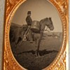 Civil War cavalry drummer tintype