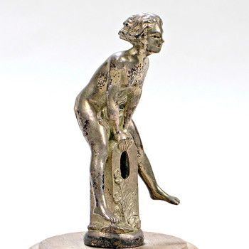 FEMME A LA BORNE,circa 1925, Attrib To Renevy.  - Art Deco