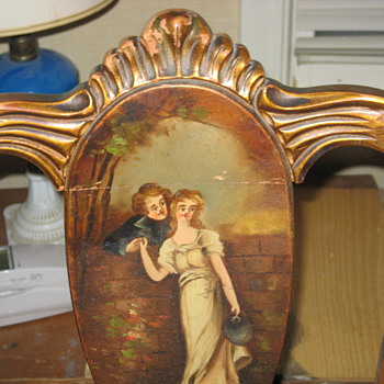 Old hand painted chair - Victorian Era