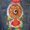 Vintage Levi's 1970's Men's Embroidered Jacket created by a San Francisco hippie